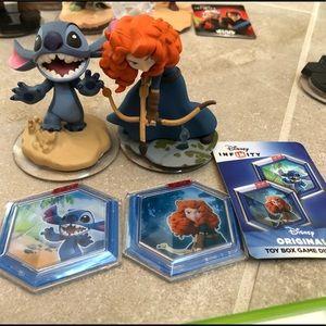 Disney Infinity Merida & Stitch & Power Discs